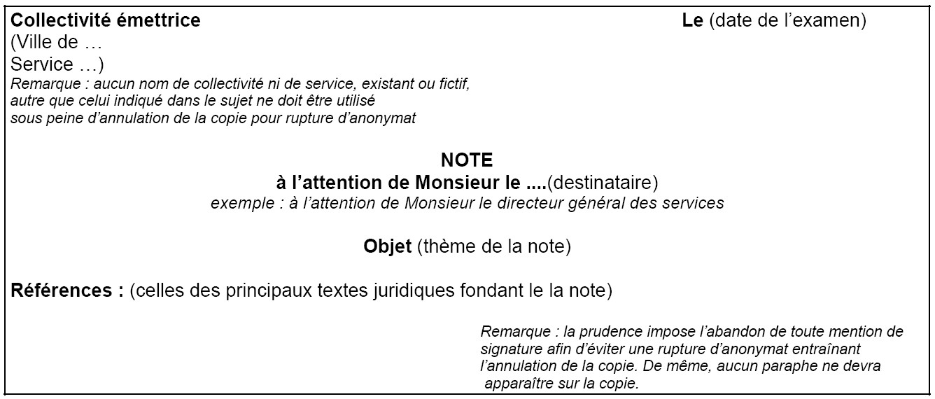 exemple de note de synthese